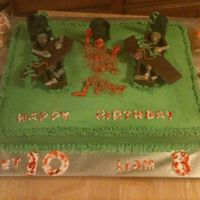 Coffin, Halloween Coffin and skelton's are choc, covered in butter cream.