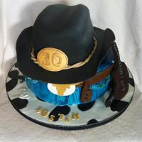 Cowboy Birthday Cake 30th birthday
