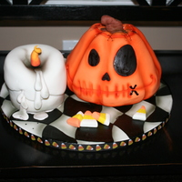 Halloween Cake And Candle Halloween cake and candle
