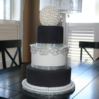 Black And White Wedding Cake black and white wedding cake