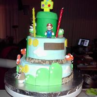 Mario Birthday Cake For 1 Year Old All Fondant And Candymario And Friends Are A Part Of A Character Set *Mario Birthday Cake for 1 year old. All Fondant and candy...Mario and friends are a part of a character set.