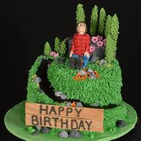 Hiking Birthday Cake This was a cake for my son's 19th birthday - he was into hiking and the outdoors. The flavor was maple with maple buttercream. The...