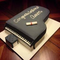 Piano Graduation Cake   Cake for a young pianist who was graduating from high school.