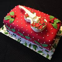 Violin Christmas Cake This was a small holiday cake for a family gathering. The violin was from a wedding cake book from Kerry Vincent.