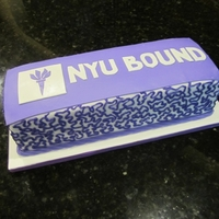 Nyu Cake This was a chocolate cake with chocolate frosting for my son who was headed to NYU (far from NC).