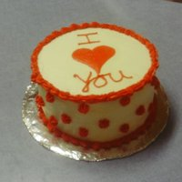 I Love You I put this in the Valentine's Day Album but this was made for a lady who wanted a cake for her boyfriend who was coming in from out of...