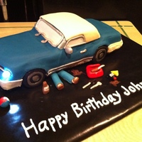 Fixer-Up Car Birthday Cake My first car cake! A project car was the perfect way to say Happy Birthday from a wife to her husband. They loved the headlights...and so...