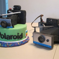 Vintage Polaroid Camera Cake Never a dull moment in the cake biz! I was asked to recreate a Polaroid Land Camera for a photographers birthday. Made it out of Rice...