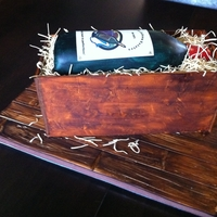 Wine Bottle Crate Cake