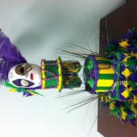 Masked Mardi Gras Mardi Gras themed cake for my friend's daughter's birthday.