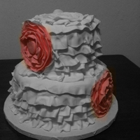 Ruffle Cake First try at fondant ruffles. For a baby shower. I learned a lot with this, can't wait to try it again.