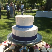 Simple Wedding Cake Red velvet cake with IMBC. Simple cake for a NorCal summer wedding in a winery.