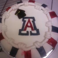 U Of A Grad Cake For a University of Az graduate. Red velvel, bc, and mmf. The graduation came after the fact. The ''A'' was not...
