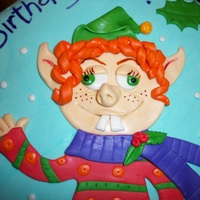 Ugly Elf Cake Made for an ugly sweater birthday party around Christmas...he fit right in! ;)