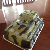 3D Tank Cake ARMY tank cake for son's birthday