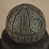 Star Wars Death Star Cake  We were asked to make a death star cake for a 5 year old. There is so much more detail in this cake than a 5 year old will ever appreciate...