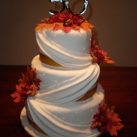 50Th In The Fall I did this cake last year and loved it! Clearly it was for a 50th wedding anniversary and it was mid October so the theme was perfect! The...