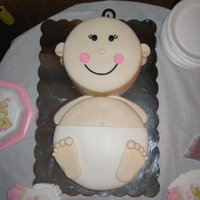Baby In Diaper Cake  Baby - Baby SHower cake. I belive this is a wilton design. Great cake for a beginner to make. The trickest part is to make sure the heights...