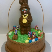 Easter Basket Chocolate Easter Bunny in a Basket