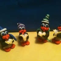 Christmas Caroling Penguins These are a few penguins my sister and I did as one of our play dates, She lives in PA and I live in Baltimore. So Anyways the 2 with the...