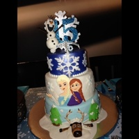 Frozen Birthday Cake   Frozen Birthday Cake