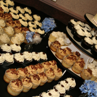 "August Wedding 150 cupcakes and a 6"" cutting cake .... they loved it!"