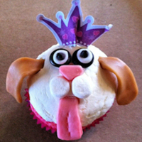 Princess Puppy Birthday Special order - wanted princess puppy cupcakes. Used starburst, mini marshmallows, MnM's & tootsie rolls for pup