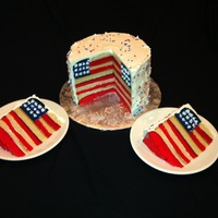 American Flag Cake Buttercream Stars Piped On Once Its Cut Tfl   American flag cake. Buttercream stars piped on once it's cut. TFL.