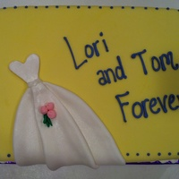 Bridal Shower Cake I Made For My Old High School Friend Dress Is Made With Fondant And Luster Dust Tfl   Bridal shower cake I made for my old high school friend. Dress is made with fondant and luster dust. TFL!