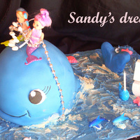 Mermaid, Whale I made this cake for my sister's twin girls who had a mermaid party. Choc Cake, BC, Fondant. The one asked me who ate the piece of...