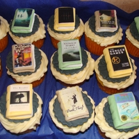 Books Made these cupcakes for a lady's bookclub meeting.