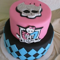 Monster High Cake This is a cake inspired from a few different cakes that were found online by the client. Monster High themed.