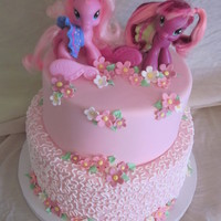 My Little Pony Cake Client wanted a My Little Pony Themed cake and this is what I came up with.