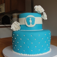 "Baby Shower Cake modelled after a cake by ""My Sweet and Saucy""."