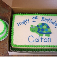 Turtle First Birthday Made to match party decor.