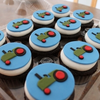 Old Tractor Cupcakes All handmade from fondant.