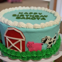 Farm Scene All decorations hand cut from fondant