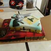Red Dead Redemption cake based on the video game Red Dead Redemption
