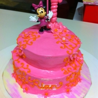 2 Tiered Smash Cake Made this for my friends daughter. Turned out cute! She really enjoyed her cake :)