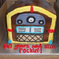 Juke Box Cake Small jukebox made for a man turning 60. All buttercream.