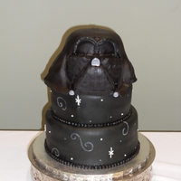 Darth Vader Groom's Cake This cake made me so nervous! It came out pretty good but if I ever have another one to do, I know what changes I'll make.