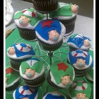 Nautical Baby Boy Cupcakes