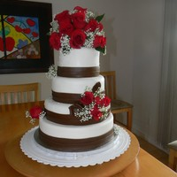 Red Theme Wedding Cake