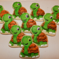 Turtle Cookies New round of turtles! This time they are airbrushed and not hand painted!
