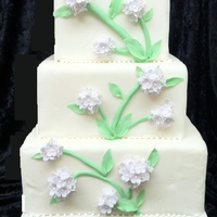 Bas Relief Blossoms This is a three tier cake I made to practice bas relief work.