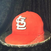 Cardinals Cap For all the Cardinals fans I know out there, this is a pumpkin spice cake with cinnamon buttercream.