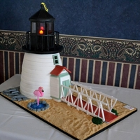Brant Point Lighthouse Cake