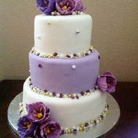 Purple Tulip Cake Made For A Friends 50Th Birthday Purple tulip cake made for a friend's 50th birthday