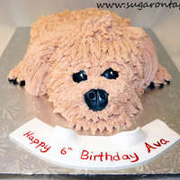 Louie The Poodle Cake  This is a chocolate cake covered in VBC. Fondant used for the nose, eyes and claws. This was modeled after the clients dog - the provided a...