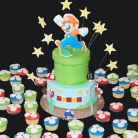 Super Marios Bros Cake